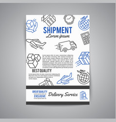 Delivery and express shipment background courier vector