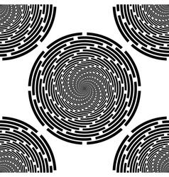 Design seamless monochrome spiral background vector