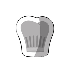 Dotted sticker of chefs hat shading vector