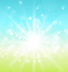 Easter nature background with lens flare vector image