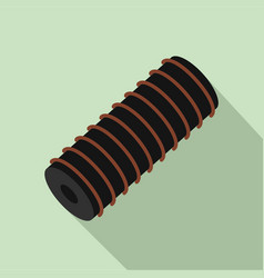Electric spring coil icon flat style vector