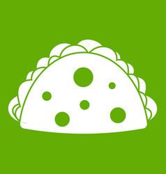Empanada cheburek or calzone icon green vector