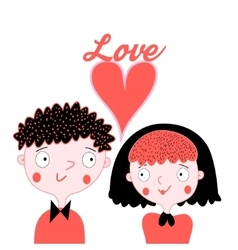 Enamoured boy and girl vector image