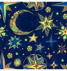 fantasy starry sky vector image