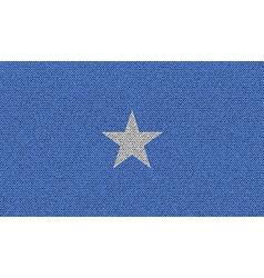 Flags Somalia on denim texture vector image vector image