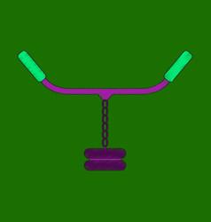 flat shading style icon sports simulator vector image