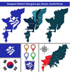 gangseo district busan city south korea vector image