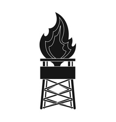 Gas toweroil single icon in black style vector
