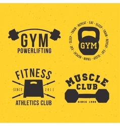 Gym badges vector image
