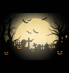 Halloween background and scary church on vector