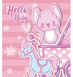hello baby shower card vector image