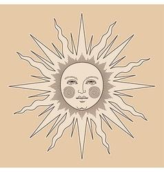 Heraldic sun small vector