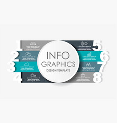 Infographic design template with place for your vector