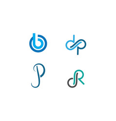 initial letter logo vector image