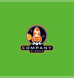 Letter z rocket logo design vector