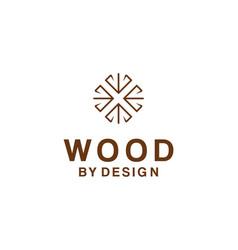 Logo for wood design company vector