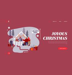 man and woman on christmas market internet vector image
