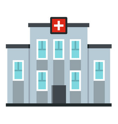Medical center building icon isolated vector