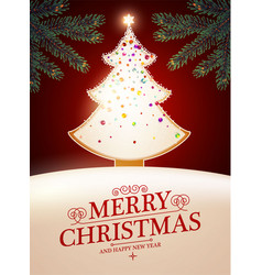 merry christmas cute design with gingerbread vector image