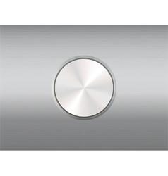 metallic button vector image