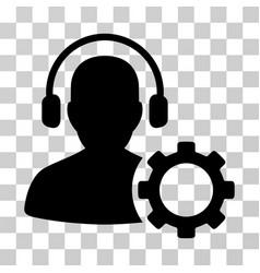 operator configuration gear icon vector image