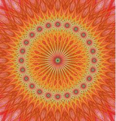 Orange abstract star mandala fractal background vector