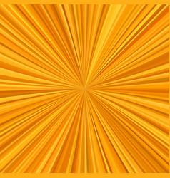 Orange starburst background from radial stripes vector