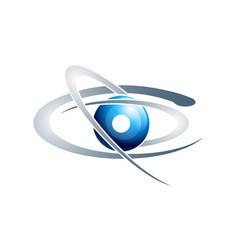 Planet logo satellite logo cosmos logo planet vector