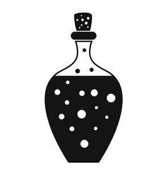 Potion bottle icon simple style vector