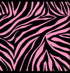 print zebra ornament seamless pattern vector image