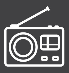 radio line icon communication and website vector image