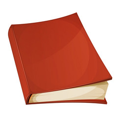 red book isolated vector image