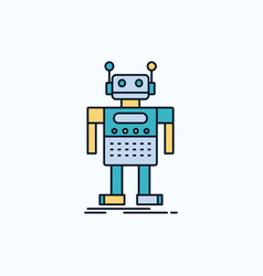 robot android artificial bot technology flat icon vector image