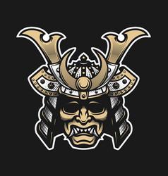 samurai warrior mask traditional armor of vector image