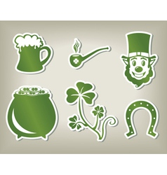 Set of icon of Sant Patricks Day vector
