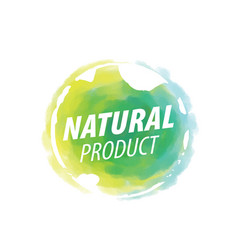 sign with text natural product vector image