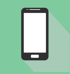 smartphone iphone icon in the style flat design on vector image