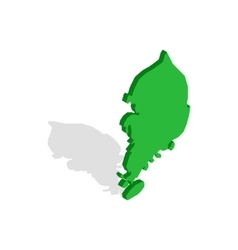 South korea map icon isometric 3d style vector