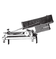 Sphygmograph vintage vector
