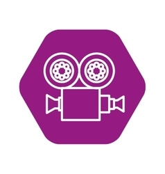 Video camera film icon vector