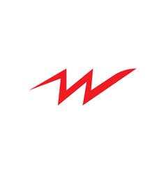 W letter logo business vector