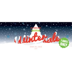 Winter Sale 50 Percent 6234x2500 px Wide Banner vector image