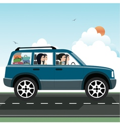 Women driving vector image