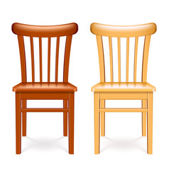 wooden chair isolated on white vector image
