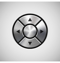 Abstract Joystick Button with Metal Texture vector image