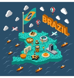 Brazil Isometric Map vector image vector image