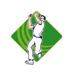 Cricket Bowler Bowling Ball Front vector image vector image