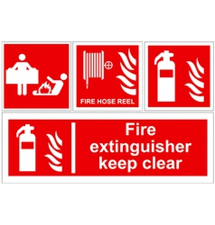 Fire extinguisher signs vector image