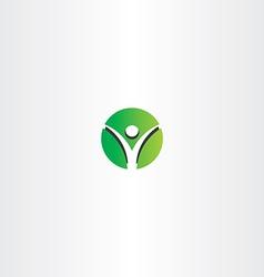 green man circle logo sign vector image