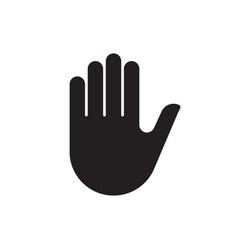 human hand silhouette icon vector image vector image